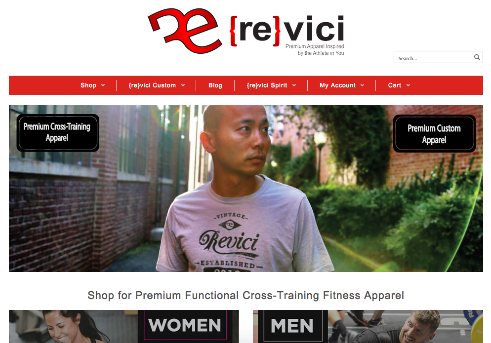 revici-gear-website