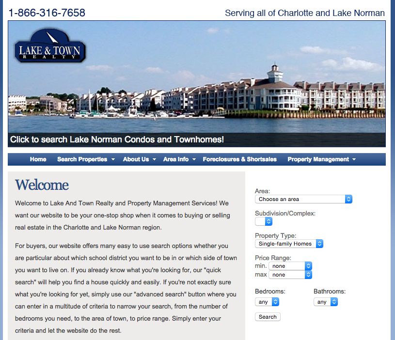 lake-and-town-realty-website